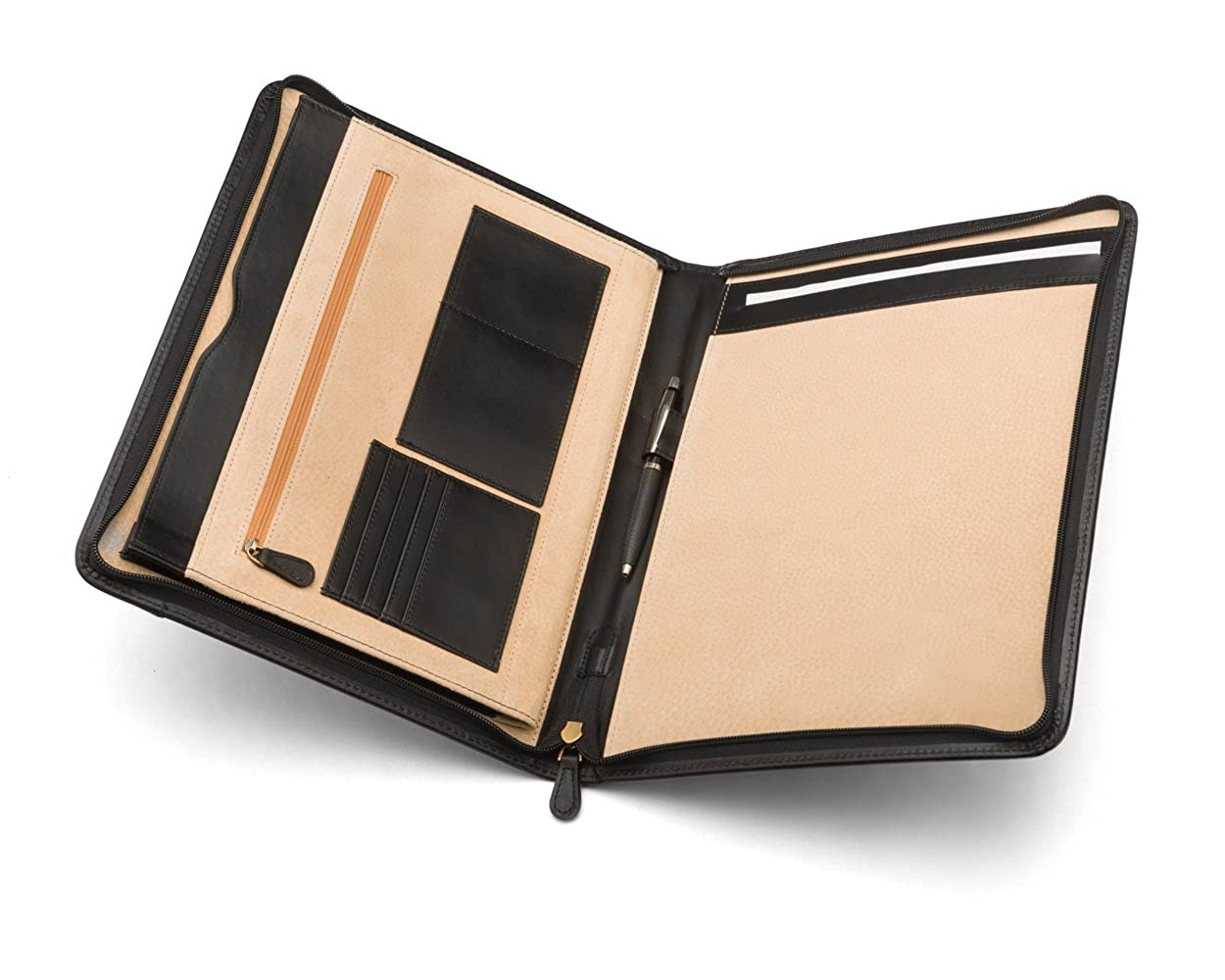 SAGEBROWN Black A4 Notepad Folder   B079Y24GWZ