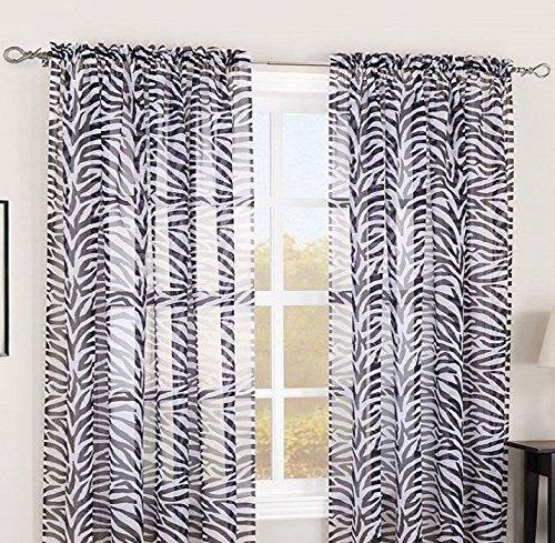 Gorgeous Home Zebra Print Panels