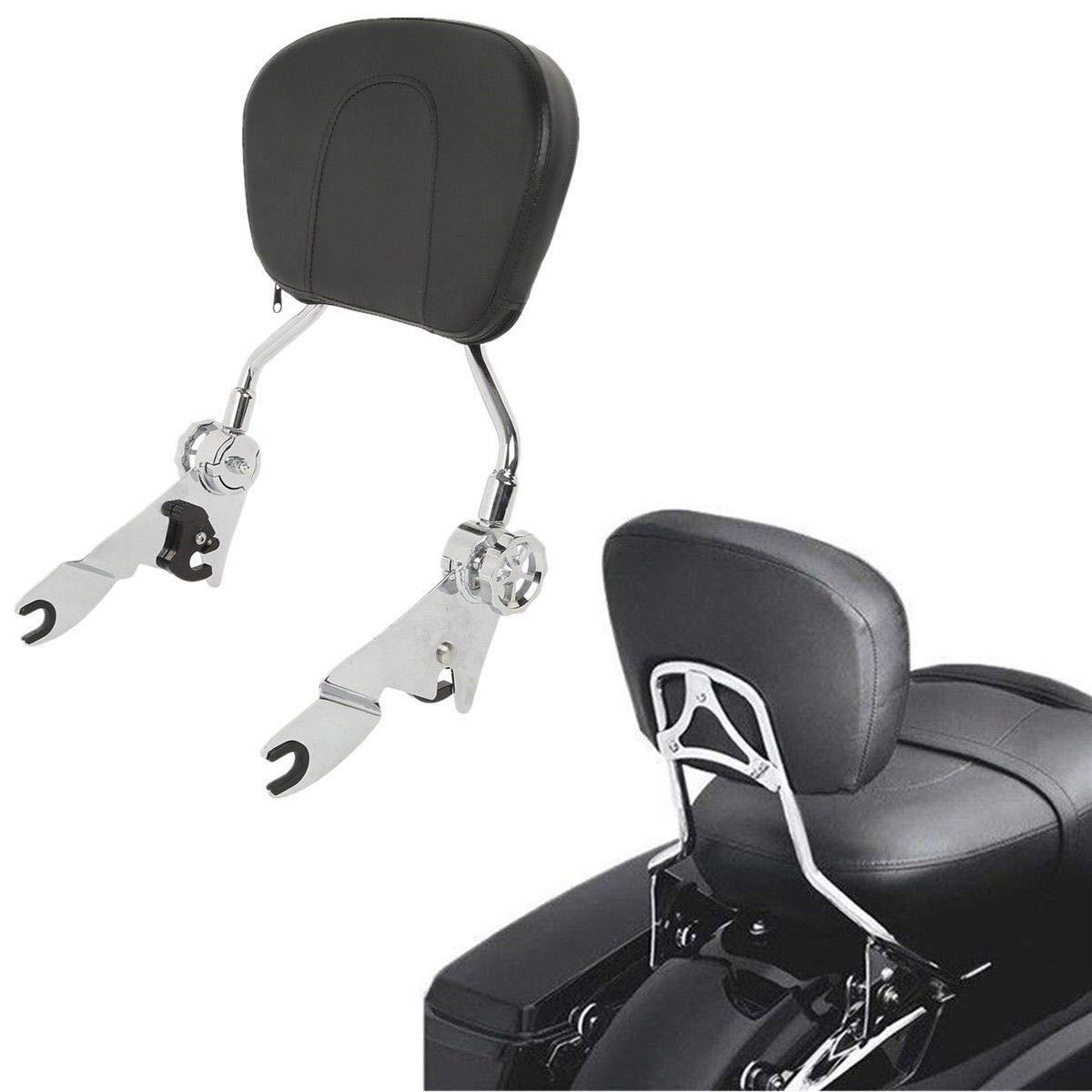 TCMT Detachable Stealth Backrest Sissybar Fits For Harley Touring FLHR FLHX FLHT FLTR 2009 2010 2011 2012 2013 2014 2015 2016 2017 2018