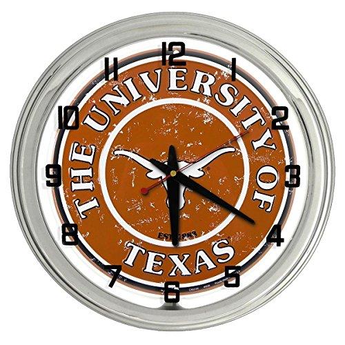 Univeristy of Texas Longhorns White Neon clock from Redeye Laserworks ()