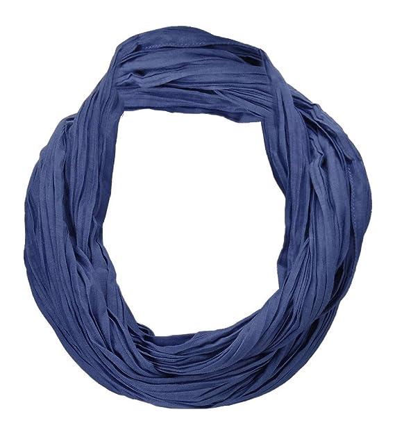 28bf2428430e05 TigerTie Loop Schal in dunkelblau einfarbig Uni - Schlauchschal Rundschal
