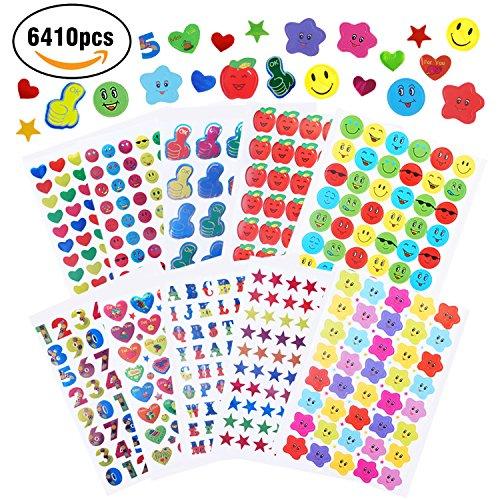 JVIGUE Teacher Stickers for Kids,6410pcs Kids Reward Stickers for Teacher Classroom & School Bulk Use