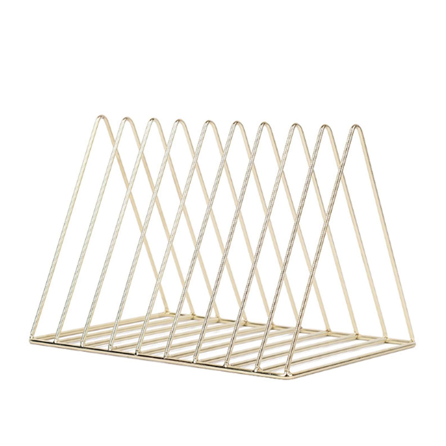 Your only family Practical Metal Bookshelf Bookshelf Simple Office Triangle File Holder Book Storage Durable