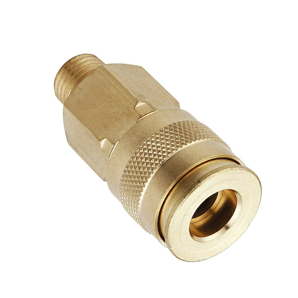 Baoblaze 1//4 NPT Pipe Adapter Brass Quick Connect Push Lock Fittings Air Bag Fittings