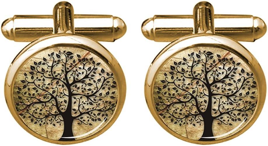 Tree of life cufflinks Tree cuff links Life tree cufflink men and women accessories