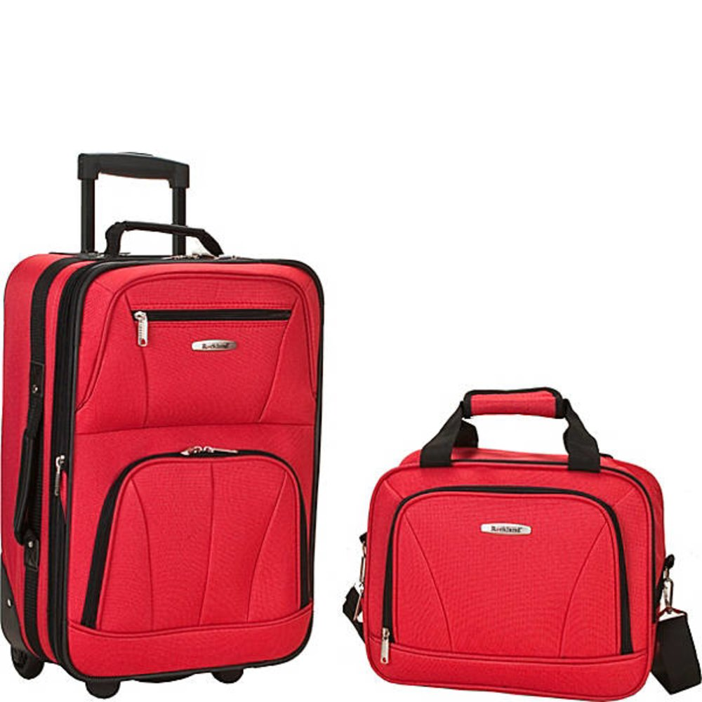 Rockland 2 PC RED LUGGAGE SET