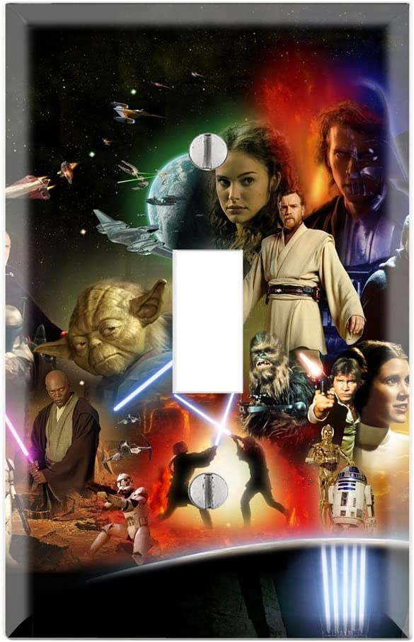 Single Toggle Wall Switch Cover Plate Decor Wallplate - Star Wars