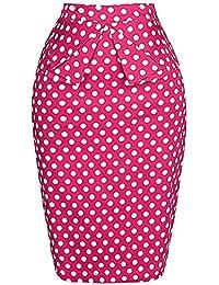 GRACE KARIN Slim Vintage Pencil Skirts for Women Cotton...
