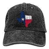 LETI LISW Texas Flag MapClassicDenim Cap Adult Unisex Adjustable Cap