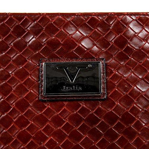 V 1969 Italia Mens Shoulder Bag Dark Red ROD