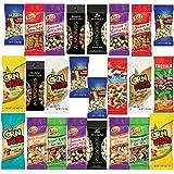 Healthy Nuts & Seeds Sampler Assortment Includes Wonderful Pistachios, Sahale, Planters Cashews, Emerald Almonds, Kars Assorted Trail Mix, Davids Sunflower Seeds & More Bulk Value (25 Count)