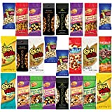 Healthy Nuts & Seeds Sampler Assortment Includes Wonderful Pistachios, Sahale, Planters Cashews, Emerald Almonds, Kars Assorted Trail Mix, Davids Sunflower Seeds & More Bulk Value (25 Count)