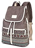 Casual Backpack Purse for Women,Canvas School Backpack Shoulder Bag Large Capacity Rucksack Bookbag fit Womens girls Ladies Travel Daypack