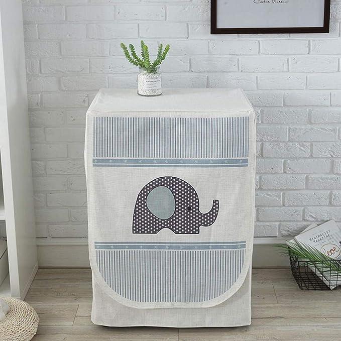 GZxyj Funda Lavadora Impermeable Bebé Elefante Lino Lavadora Carga ...
