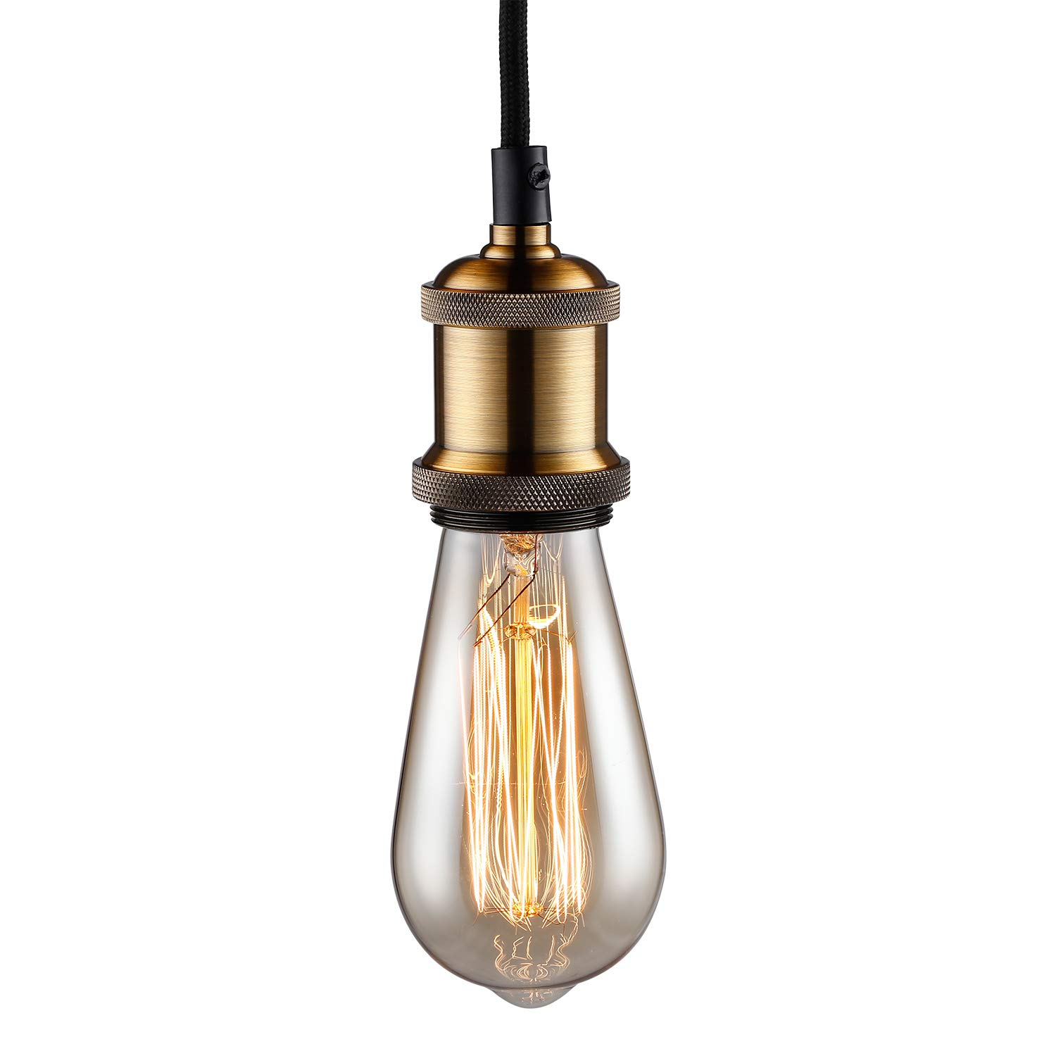 TORCHSTAR Pendant Light Fixture, 3.28ft Adjustable Lamp Cord, UL-Listed Power Cord, Decorating for Living Room, Coffee Shop, Western Stylish Place, 2-Year Warranty, Bronze