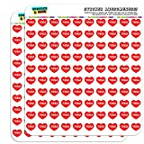 Graphics and More I Love Heart Yoga Planner Calendar Scrapbooking Crafting Stickers - 200 1/2' (0.5') Opaque Stickers