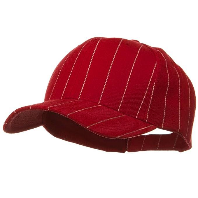9ceb36b5aeb21 Pin Striped Adjustable Baseball Cap - Red at Amazon Women s Clothing ...