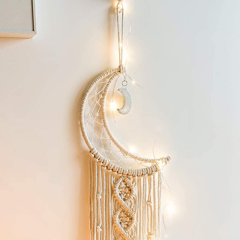 Stars Tassel Tapestry Macrame Wall Hanging Woven Dreamcatcher Home Art Deco Gift