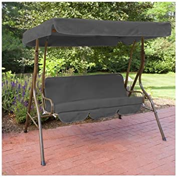 Black Water Resistant 2 Seater Replacement Canopy ONLY for Swing Seat//Garden Hammock