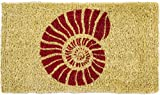 Entryways Nautilus, Hand-Stenciled, All-Natural Coconut Fiber Coir Doormat 18'' X 30'' x .75''
