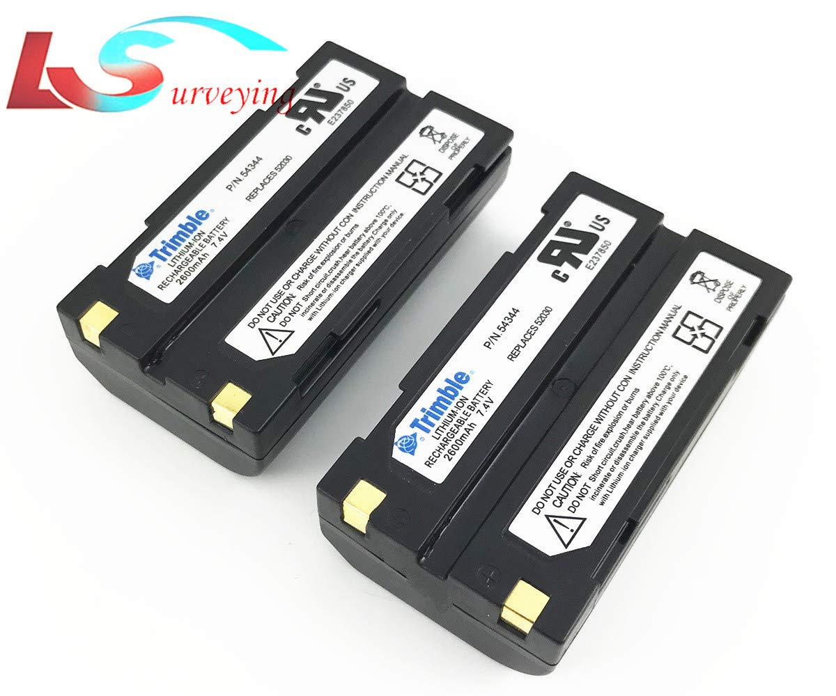 2 Pack of 2600mAh-54344 Battery for Trimble GPS 5700/5800/R3/R4/R5/R6/R7/R8 TSC1 DINI03 by LS2015