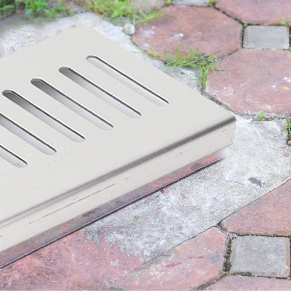 Wifehelper Drain de Plancher Grille Salle De Bains Douche Drain De Drainage 304 en Acier Inoxydable pour Home Garden Batnroom 40cm
