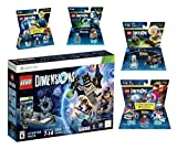 Lego Dimensions Time Traveler Starter Pack + Doctor Who Level Pack + Cyberman Fun Pack + Back To The Future Marty McFly Level Pack + Doc Brown Fun Pack for Xbox 360 Console