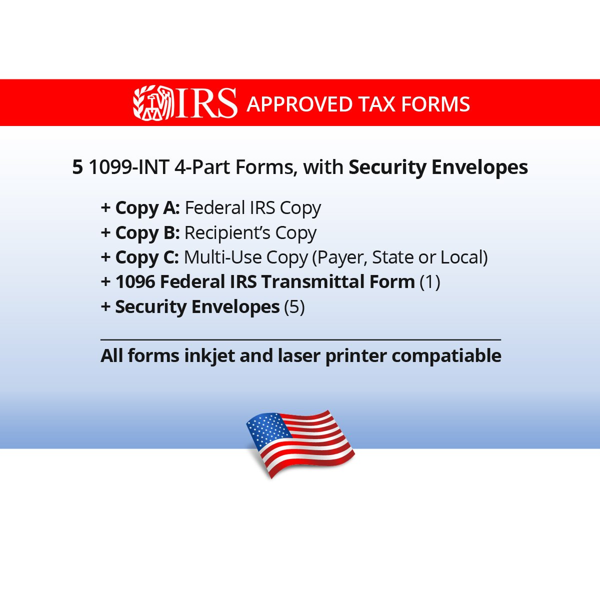 Amazon 1099 int tax forms for 2017 4 part form sets for 5 amazon 1099 int tax forms for 2017 4 part form sets for 5 vendors 1096 summary and confidential envelopes 5 office products falaconquin