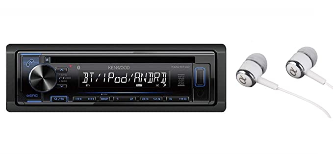 Kenwood Single DIN Bluetooth in-Dash CD/MP3, AM/FM, Front USB/Auxiliary Car  Stereo Receiver w/Dual Phone Connection, Spotify/Pandora/iPhone