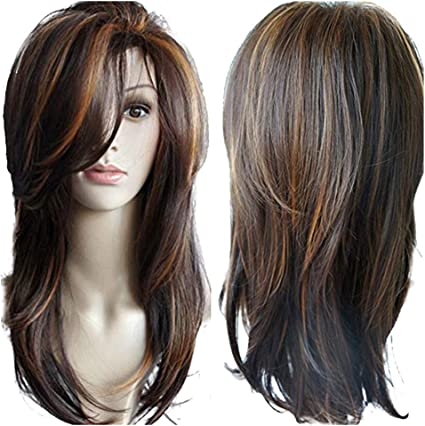Onefa Brazilian Virgin Charming Wig Hair Full Short Wigs for Fashion Black Women Cosplay//Party//Costume//Carnival//Masquerade Brown