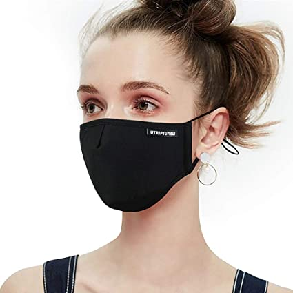 Men Women Anti Dust Masks Anti Pm2.5 Pollution Face Mouth Mask Black Breathable Valve Mask Filter 3d Health Mouth Cover Tool Personal Health Care Health Care