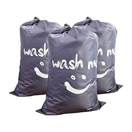 Stupendous Travel Laundry Bag 3 Pack Large Size 24X36 Laundry Bags Foldable Extra Large Nylon Storage Bag With Drawstring Closure Heavy Duty Bags For Dirty Gmtry Best Dining Table And Chair Ideas Images Gmtryco