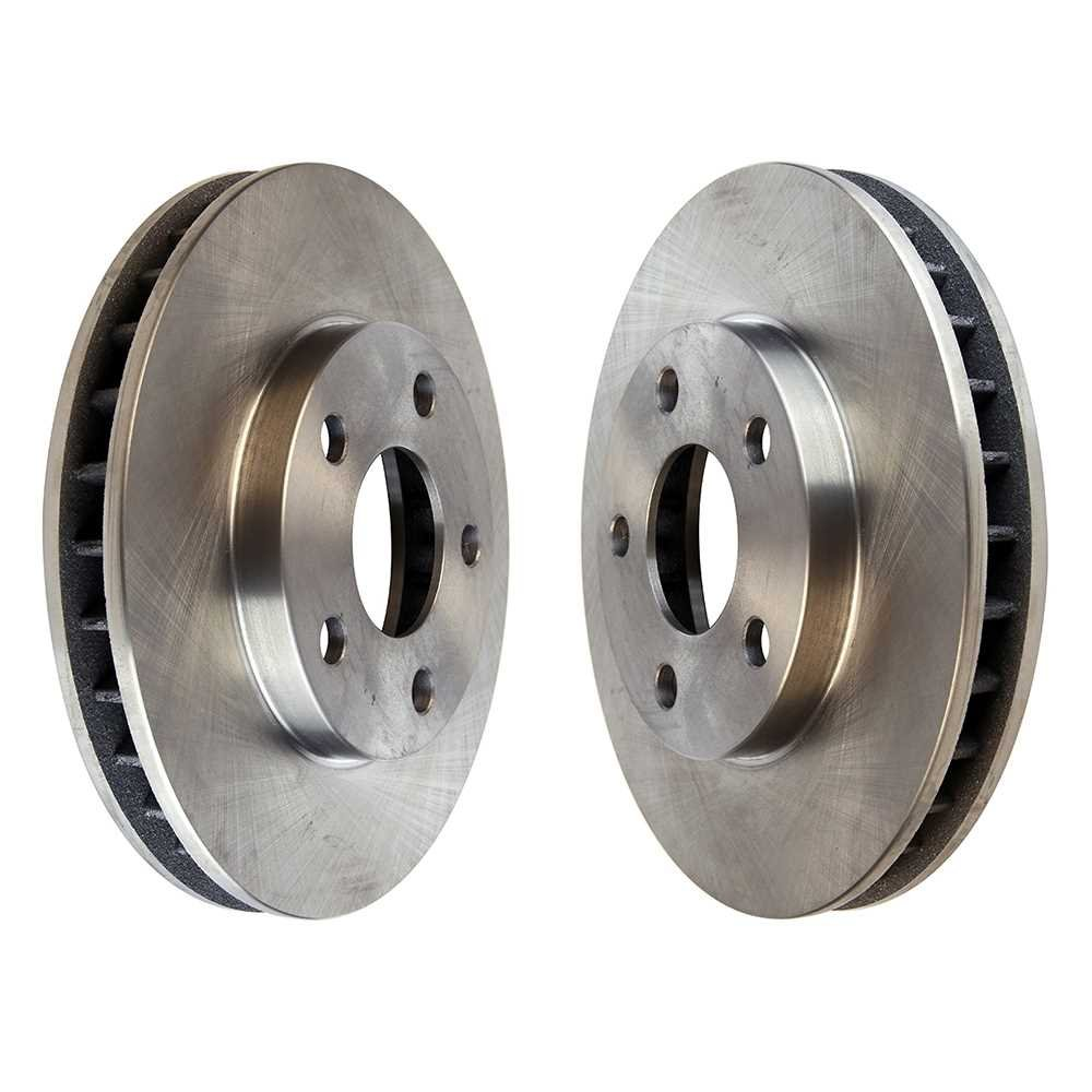 Prime Choice Auto Parts R65038PR Front Brake Disc Rotor Pair