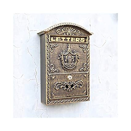 Wall-mounted Mailbox Can Lock Outdoor Mailbox Garden ...