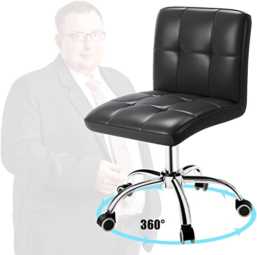 360 Office Desk Chair,PU Adjustable Rolling Task Chair