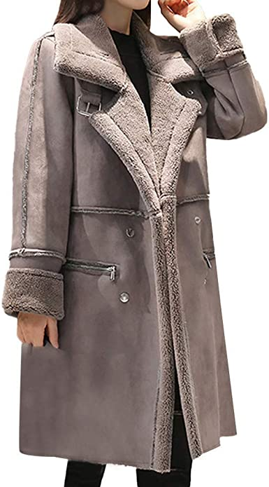 manteau en cuir femme doublé fourrure