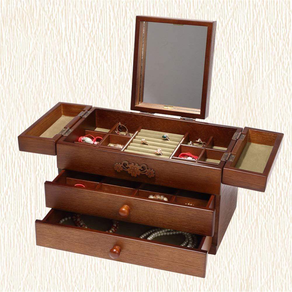Elegante joyero practico Caja de almacenamiento de joyería ...