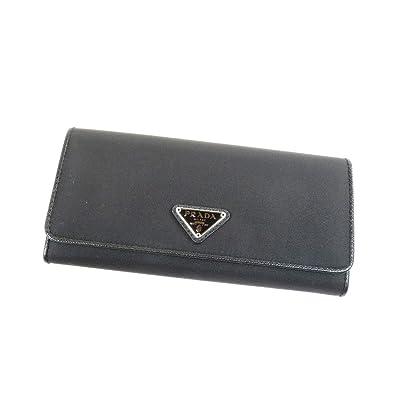 b57b8a2a20df Amazon | [プラダ]ロゴプレート 長財布(小銭入れあり) ナイロン素材 ...