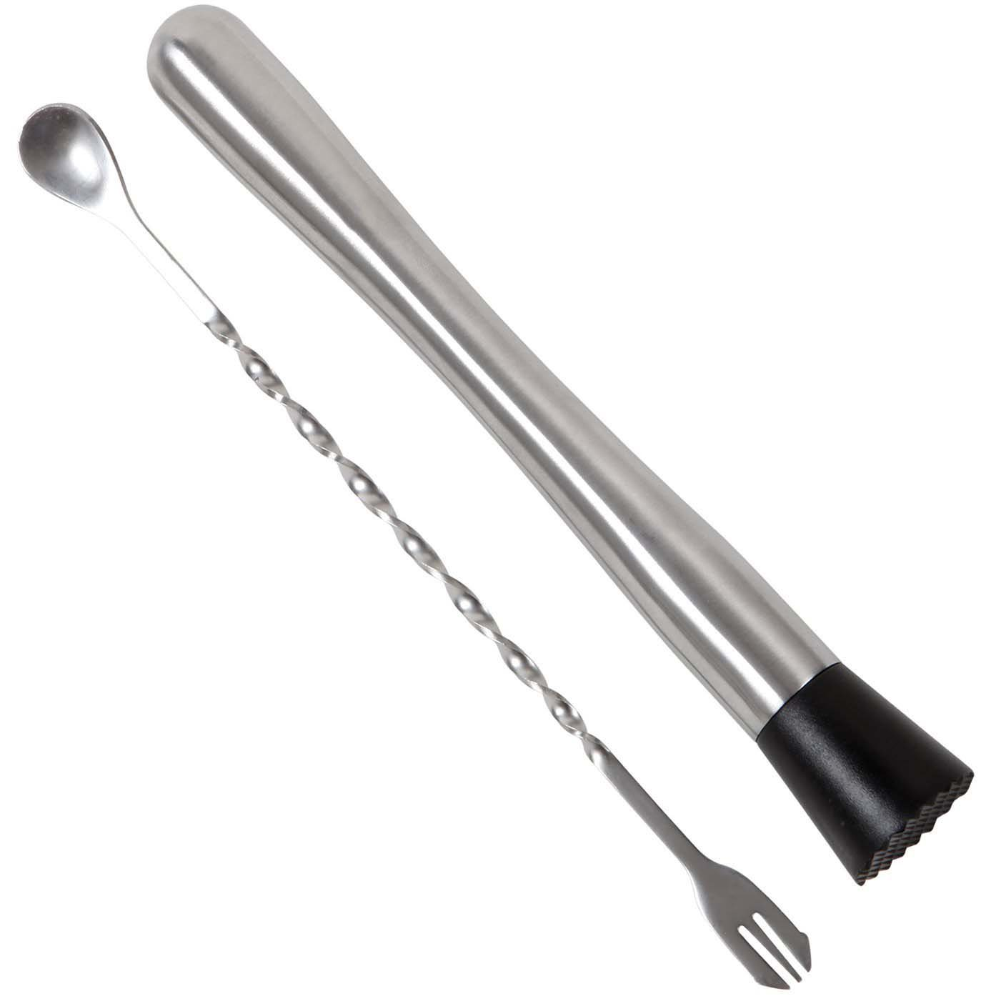 Nihao® Stainless Steel Cocktail Muddler & Mixing Spoon - Make Flavour Bursting Cocktails with Ease