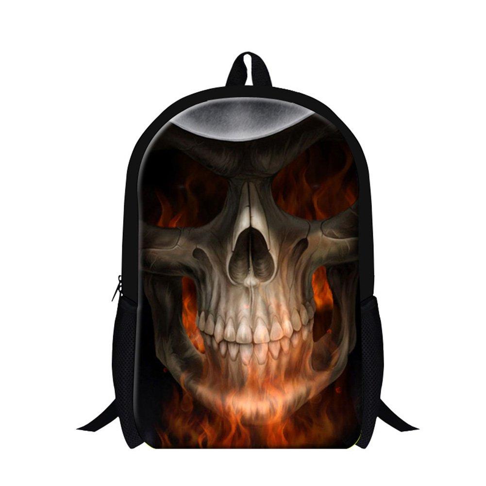 Genericスカルシリーズプリントスクールバックパックfor Children Mens Coolハイキングバッグ  Skull5 B01ACTH3I0