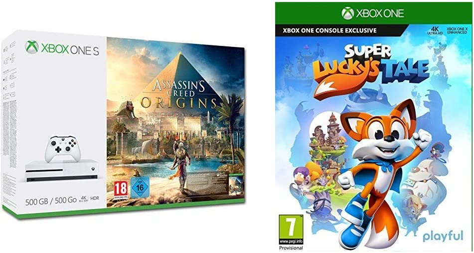 Xbox One S - Consola 500 GB Assassins Creed Origins + Super Luckys Tale: Amazon.es: Videojuegos