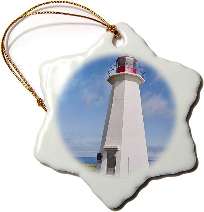 3dRose Prince Edward Island. Shipwreck Point Lighthouse. -CN09 MDE0000 -. - Ornaments (ORN_72993_1)