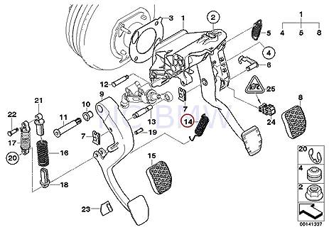 61Q7GuSSUfL._SX463_ amazon com genuine bmw e38 e39 e60 clutch pedal lever return spring