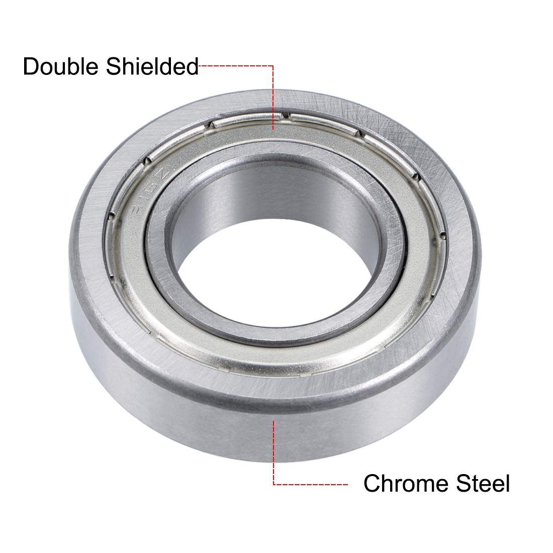 sourcing map R1-5ZZ Deep Groove Ball Bearing 3//32x5//16x9//64 Double Shielded Chrome Steel Bearings 2-Pack