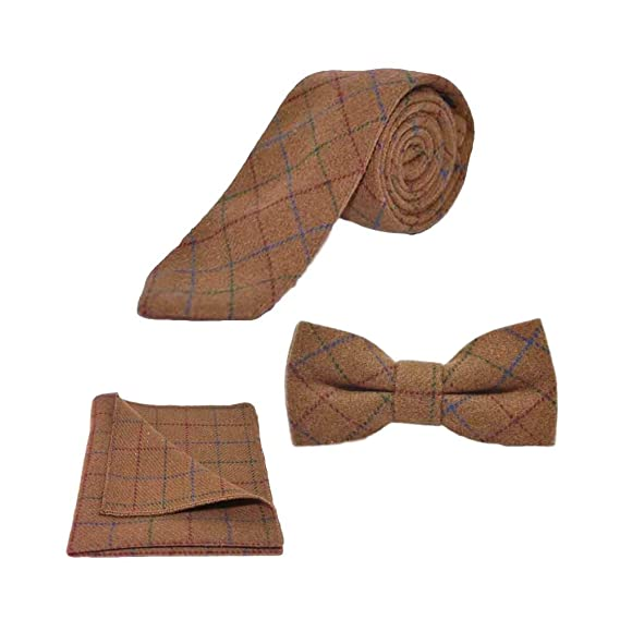 4dc059b57fd5 Image Unavailable. Image not available for. Colour: Heritage Check Rustic  Brown Bow Tie ...
