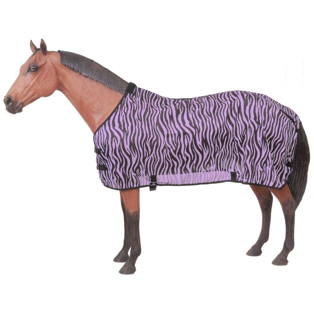 Tough 1 Zebra Mesh Fly Sheet 72 Purple Zebra