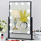 FENCHILIN 3 Tir-fold Blutooth Makeup Mirror - 20 LED Lights Cosmetic Mirror & Touch Screen Dimmable and Removable 10X…