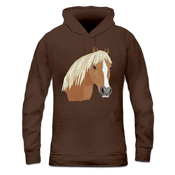diAmazon da con Horse donna e Shirtcity Head Felpa itAbbigliamento Haflinger accessori cappuccio di rCeodxBW