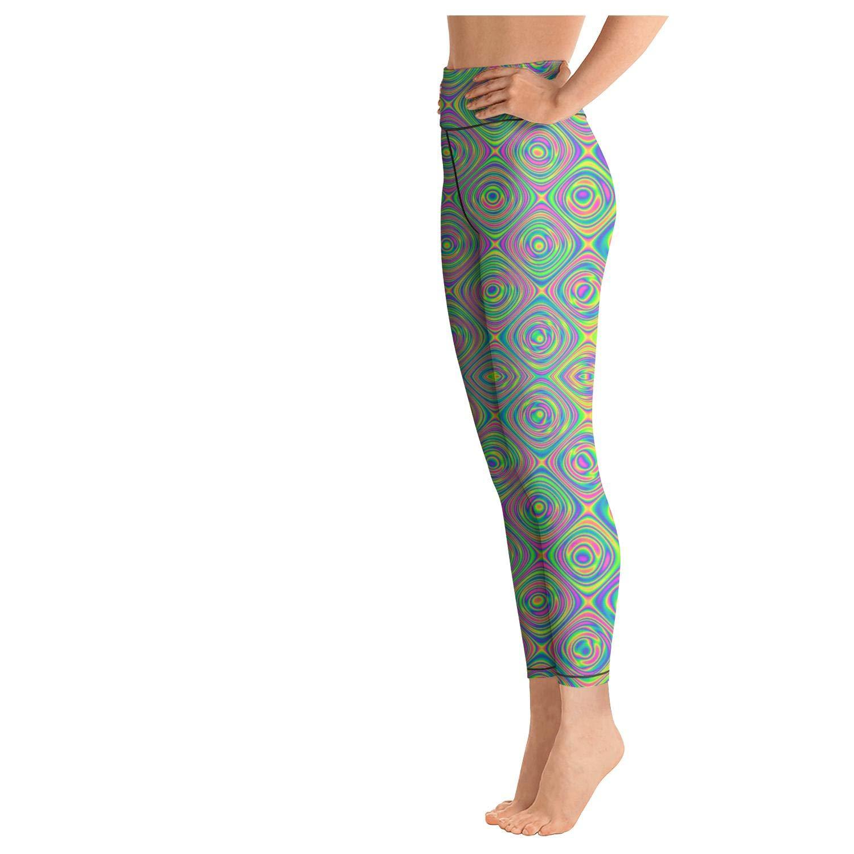 medssii Womens Yoga Pants Function observable Psychedelic Trippy Super Soft Yoga Leggings with Pockets