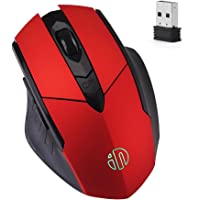 Inphic Rechargeable Gaming Mouse with USB Nano Receiver (Red Plating)